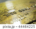 Gold credit cards close up. Macro shot smart card, credit card 44464225