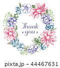 花 フレーム 額縁のイラスト 44467631