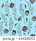 三色すみれ 花 植物のイラスト 44468052