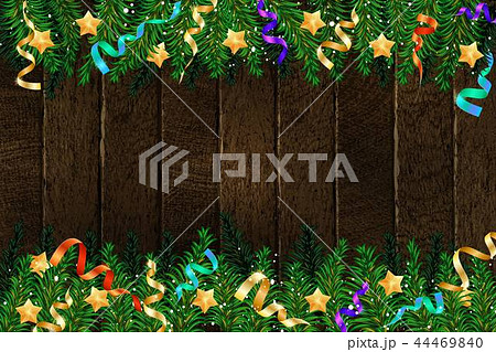 Christmas 2019 fir tree with decoration 44469840