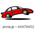 自動車 クーペ 赤色のイラスト 44470452