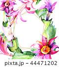 花 水彩画 サキュレントのイラスト 44471202