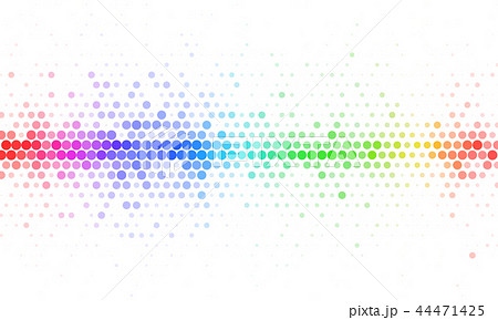 Abstract Rainbow Halftone Mosaic Template 44471425