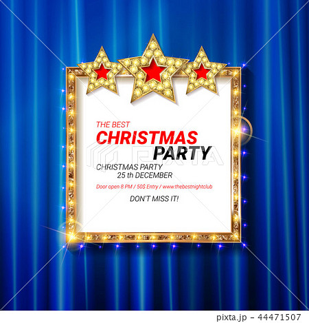 invitation merry christmas party 2019のイラスト素材 44471507 pixta