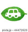 葉 車 エコカーのイラスト 44472620