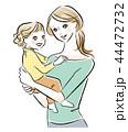 子供を抱く母親のイラスト 44472732