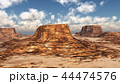 Desert landscape with mountains 44474576