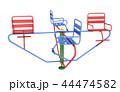 Merry-go-round isolated on white background 44474582