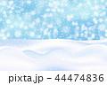 冬 ベクトル ゆきのイラスト 44474836