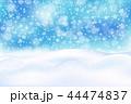 冬 ベクトル ゆきのイラスト 44474837
