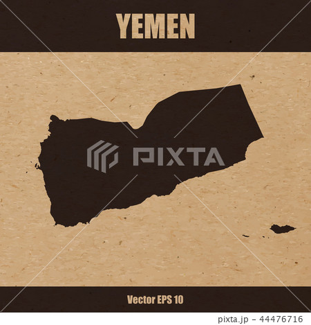 Detailed map of Yemen on craft paper 44476716