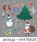 クリスマス シール 落書きのイラスト 44476828