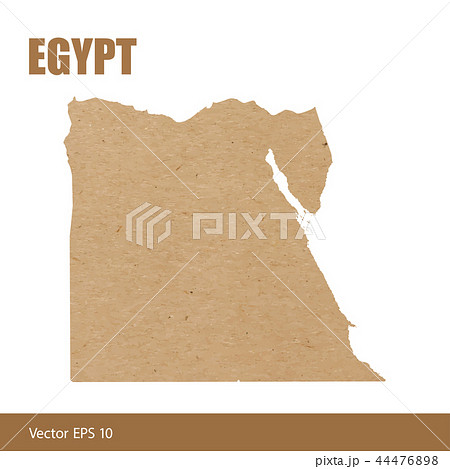 Detailed map of Egypt cut out of craft paper 44476898