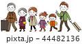 家族 旅行 ベクターのイラスト 44482136