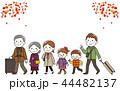 家族 ベクター 家族旅行のイラスト 44482137
