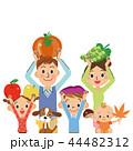 食材の収穫 家族 44482312