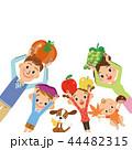 食材の収穫 家族 44482315