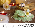 Spa still life with bath salt and candles 44483352