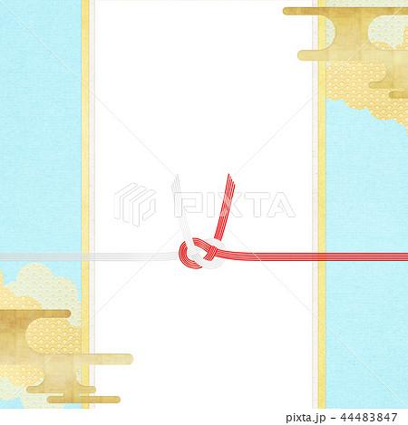 和-和柄-和風-背景-金箔-雲-霞-のし紙-水引-ご祝儀袋 44483847