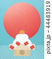 和-和風-和柄-和紙-背景-鏡餅-日の出-正月 44483919