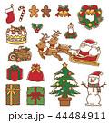 クリスマス サンタクロース トナカイのイラスト 44484911