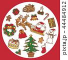 クリスマス サンタクロース トナカイのイラスト 44484912