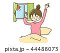 女性 ライフスタイル 朝のイラスト 44486073