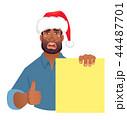 アフリカ人 アフリカ産 ボードのイラスト 44487701