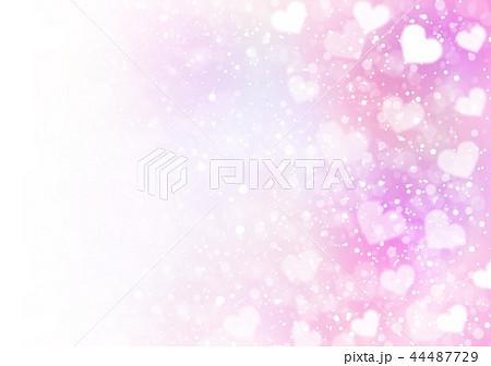 カラフルハートキラキラ背景ピンク 44487729