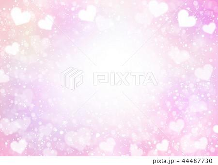 カラフルハートキラキラ背景ピンク 44487730