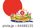 亥年 日の丸 宝舟 テンプレート 44488135