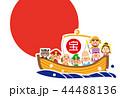 宝船 亥年 年賀状のイラスト 44488136