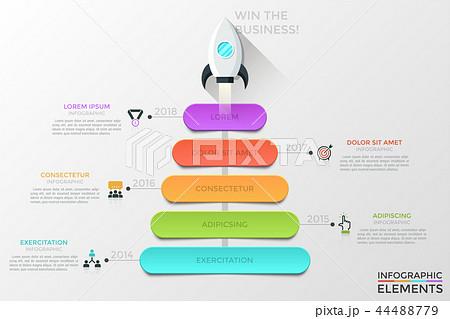 modern infographic vector templateのイラスト素材 44488779 pixta