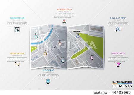 modern infographic vector templateのイラスト素材 44488969 pixta