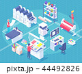 Printing House Isometric Polygraphy Composition 44492826