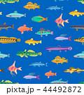 シームレス 海 マリンのイラスト 44492872