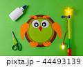 diy lantern for sankt martin day, traditional german feast, owl of color paper, glue, scissors 44493139