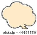 三重の吹き出し雲 44493559