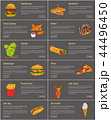 Hamburger and Sandwich Set Vector Illustration 44496450
