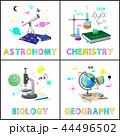 Astromony and Chemistry Set Vector Illustration 44496502