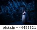 Elf girl in night forest version 44498321