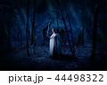 Elf girl in night forest version 44498322