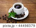 コーヒー、豆と葉っぱ 44498379