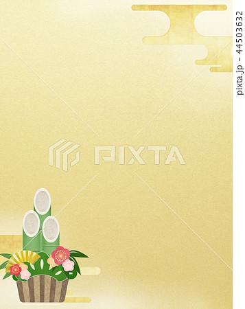 和-和風-和柄-和紙-背景-門松-金箔-正月 44503632