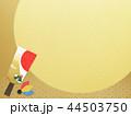 正月 羽子板 年賀状素材のイラスト 44503750