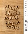 アルファベット 文字 書体の写真 44508554