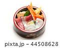 生ちらし寿司 ちらし寿司 白バックの写真 44508628