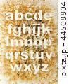 アルファベット 文字 小文字の写真 44508804