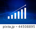 Financial growth graph in front of blue background 44508895