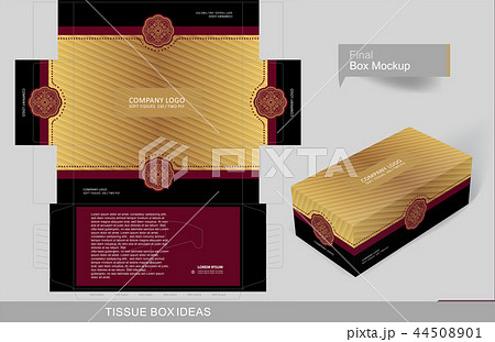 Tissue box template concept series  44508901